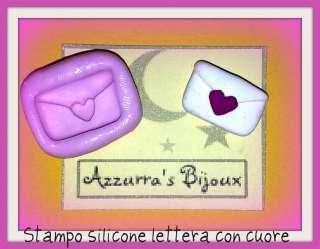 Stampini in silicone fimo lettera cuore san valentino