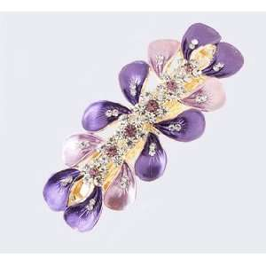 Fashion Hair Accessory ~ Purple Angels Trumpet Flower Hair