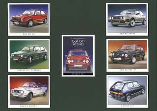 VW GOLF GTi Original Collectors Cards Mk1 & Mk2