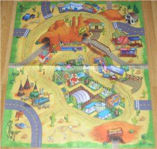 CHILDRENS Desert PLAYMAT RUG TOY CAR SAFE PLAY MAT NEW