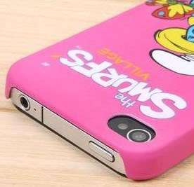 The Smurfs Village Frosted Case Cover iPhone 4 4G Pink