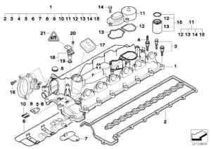 BMW DIESEL BREATHER VALVE E39 E46 X5 E60 2.0d 3.0d