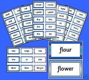 227 Homophone Pairs/Trios *Primary Teaching Resources*