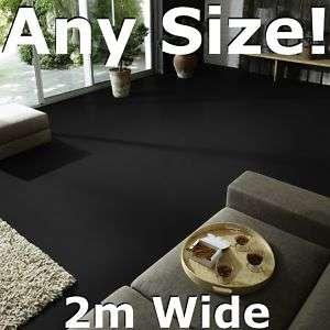 Plain Black Vinyl Flooring   Anti Slip Quality Lino, 2m