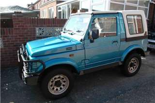1992 4 x 4 SUZUKI SJ413 SAMURAI SPORT Blue with Hard & Soft Tops