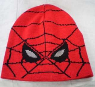 SPIDER MAN teen boy kids Beanie Tuque Winter Knit Hat RED