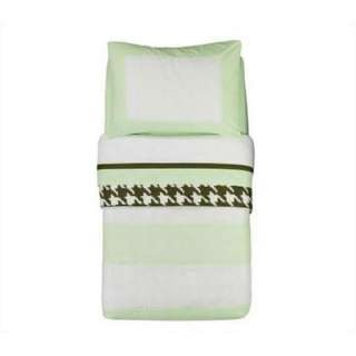 Toddler Bedding Collection   Metro Lime / White / Chocolate Toddler