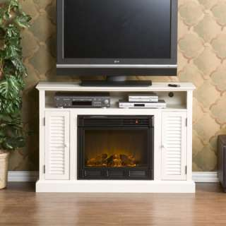 House on Wildon Home Fox 48 Tv Stand With Electric Fireplace In Antique White