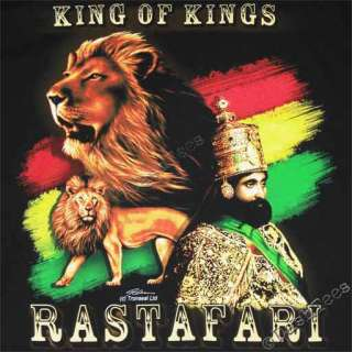 RASTA LION OF JUDAH KING OF KINGS RASTAFARI NEW T SHIRT