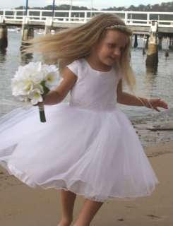 WHITE Flower Girl TUTU Holy Communion Dress 7 8
