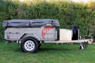 7x4ft Off Road Camper Trailer with 23x18ft Tent   camping caravan 4X4