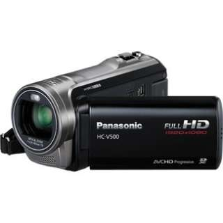 Panasonic HC V500 Full High Definition Camcorder   Black in Digital