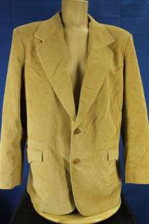 Pioneer Wear 46 Light Beige Corduroy Western Suit Coat Jacket