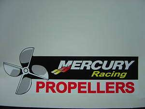 MERCURY OUTBOARDS MERCURY RACING PROPELLERS DECAL