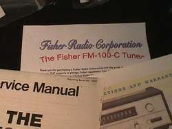 Fisher FM 100 C Vacuum Tube Tuner Restoration Kit