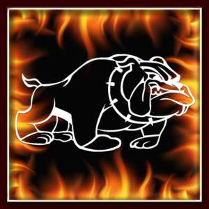 USMC Bulldog 1 military airbrush stencil template harley paint