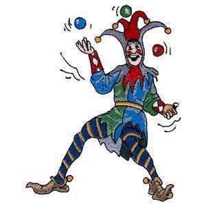 Medieval Epic Royal Court Jester Fool Iron on Patch