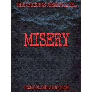 Misery Poster Movie C 27x40 James Caan Kathy Bates Lauren Bacall