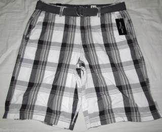 MARC ECKO $48 Grey Plaid Company Belt Shorts Choose Sz