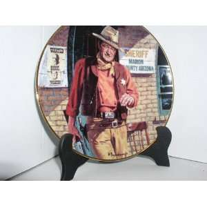 JOHN WAYNE AMERICAN LEGEND COLLECTOR PLATE #Y5473 Kitchen