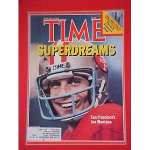 Joe Montana San Francisco 49ers Football January 25 1982