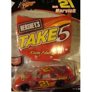 Nascar AcTioN winners circle Kevin Harvick ##21 Take5 Hersheys car