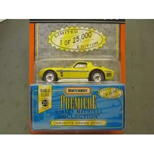 Corvette Grand Sport Matchbox Premiere Series 20 Street