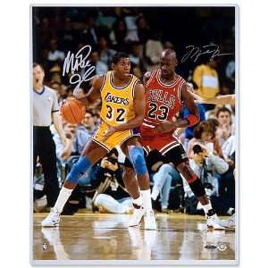 Upper Deck Chicago Bulls Michael Jordan & Magic Johnson Autographed