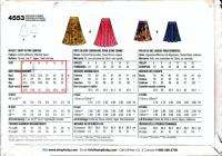 Misses Flounce Skirt Pattern Two Lengths Size 6   16