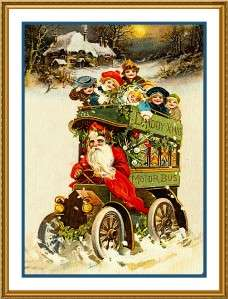 Victorian Father Christmas Santa Claus #43 Counted Cross Stitch Chart