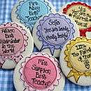 personalied mirror   spotty dotty rosette by sew very english