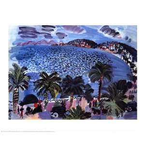 Mediterranean Scene by Raoul Dufy 27x22