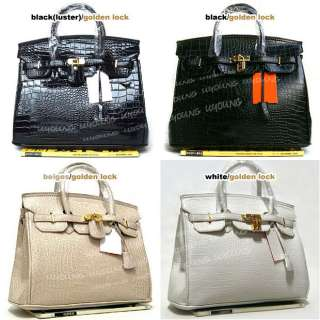 Star style High quality croc embossed lock bag lady handbag 21 color