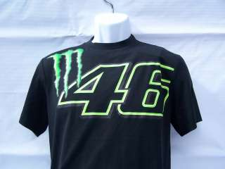 Valentino Rossi Authentic VR46 Monster Blk T Shirt MotoGP M Md