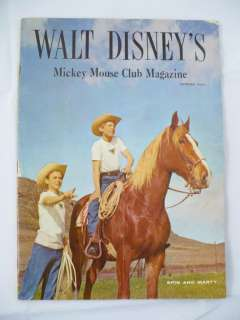 Vintage Walt Disneys Mickey Mouse Club Magazine Spring 1956
