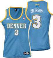 Allen Iverson adidas Fashion Denver Nuggets Womens Jersey