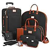Joy Mangano St. Barts Canvas Chic Collection 10 piece Luggage Set