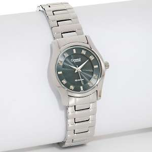 Caravelle Bulova Ladies Diamond Black Dial Bracelet Watch at HSN