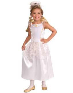 biblical wig and beard set child girl s white and gold angel costume