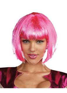 Hot Pink Wig  Cheap Multi Color Wigs Halloween Costume for Hats, Wigs