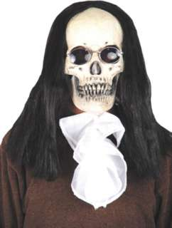 costumes in shopping cart goth skull mask