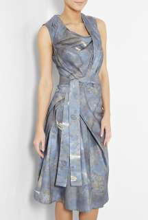 Vivienne Westwood Anglomania  Blue Print Sleeveless Dress by Vivienne