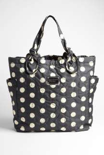 Marc by Marc Jacobs  Black And White Polka Dot Print Tote by Marc By
