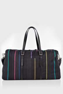 Paul Smith Accessories  Black Boating Stripe Malloroy Overnight Bag