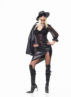 Adult Sexy Mystery Hero Dress with Hat Costume   Sexy adult super hero