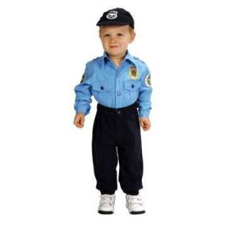 Jr. Police Officer Suit Toddler Costume   Includes Shirt, pants and