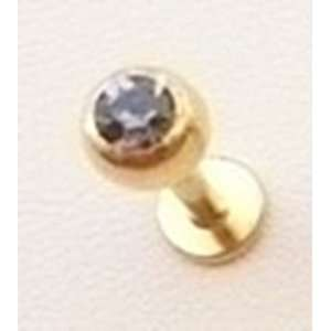 14k Gold Plated Labret 316L Surgical Steel Body Jewelry Everything
