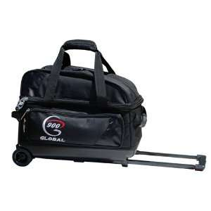 900 Global Value 2 Ball Roller Bowling Bag  Black