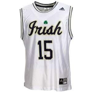 Adidas Notre Dame Fighting Irish #15 White Replica Basketball