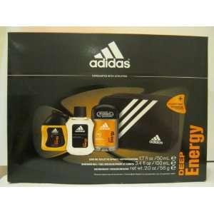 Adidas Deep Energy   3 Pieces Gift Set + Toiletry Bag
